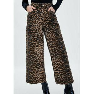 Zara Leopard Culotte Jean's